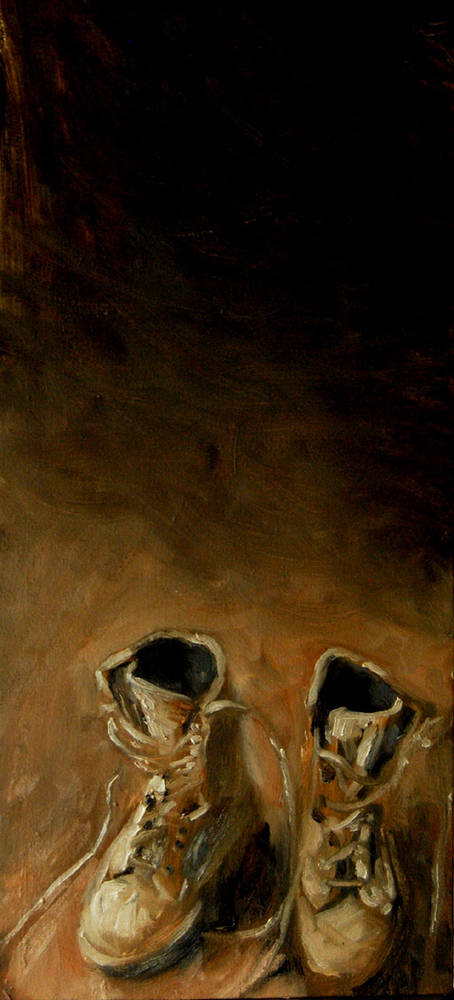 Oil painting Boots by Hendrik Gericke