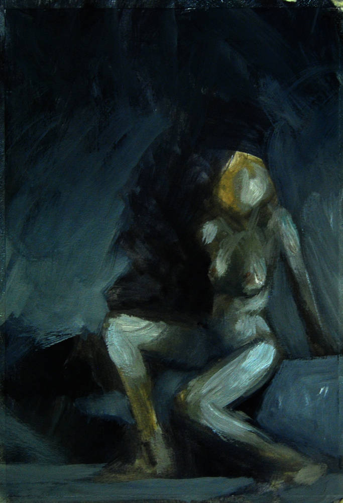 Oil painting Nude #1  by Hendrik Gericke