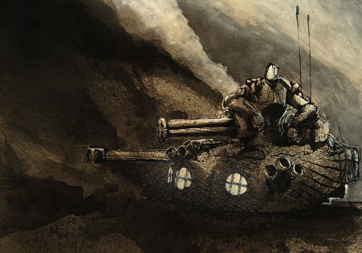 Drawing Turret by Hendrik Gericke