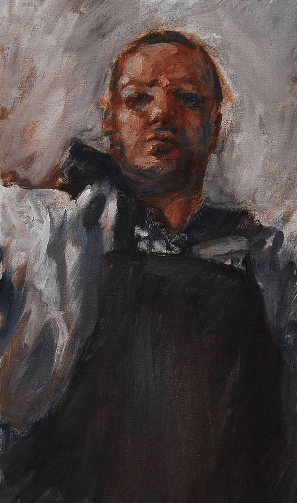 Oil painting Self, Medium by Hendrik Gericke