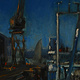 Oil painting Dry Dock by Hendrik Gericke