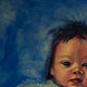 Oil painting Little Frida by Hendrik Gericke