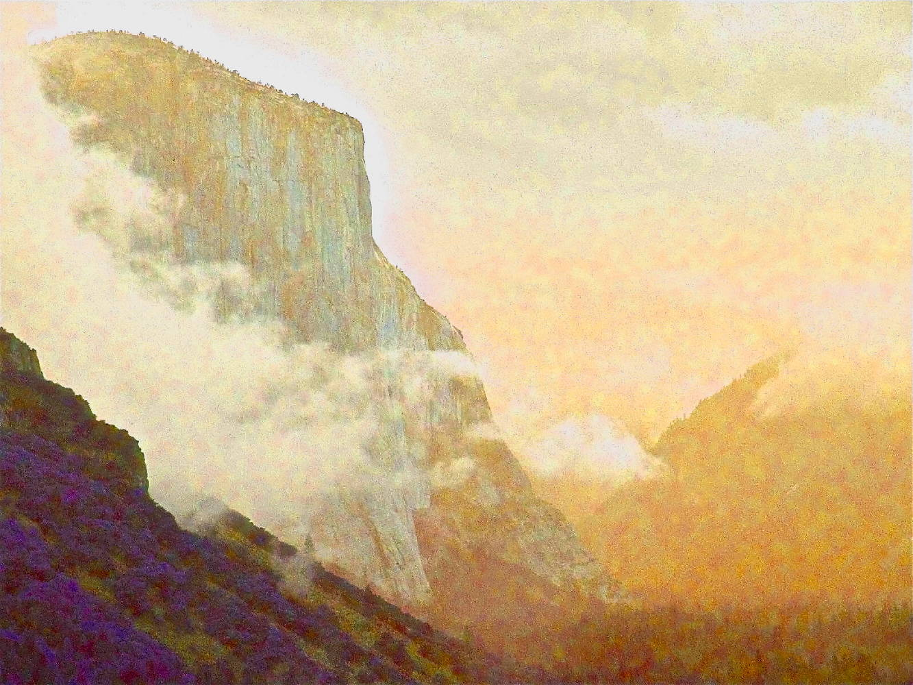 Painting EL CAPITAN by Joeann Edmonds-Matthew