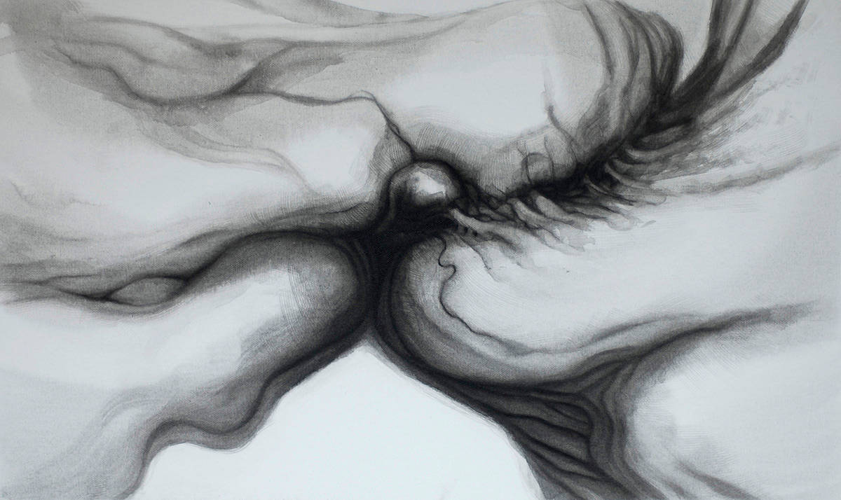 Drawing Collision, Transference and Synthesis by Hendrik Gericke