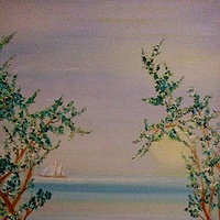 Oil painting Sailing-SW Mexico  by Gary Doll