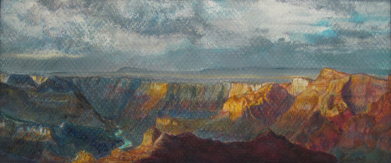Watercolor Lipon Point Grand Canyon  by Frederica  Hall