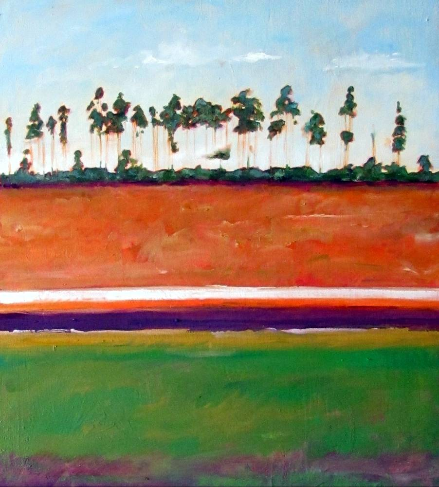 Oil painting Everglades Sunset by Paul Sershon
