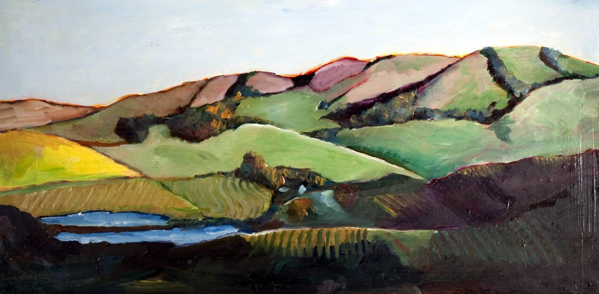 Oil painting Somewhere in Sonoma by Paul Sershon