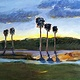 Oil painting Merritt Island Sunset by Paul Sershon