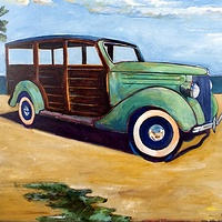 Oil painting Gulf Coast Woody by Paul Sershon