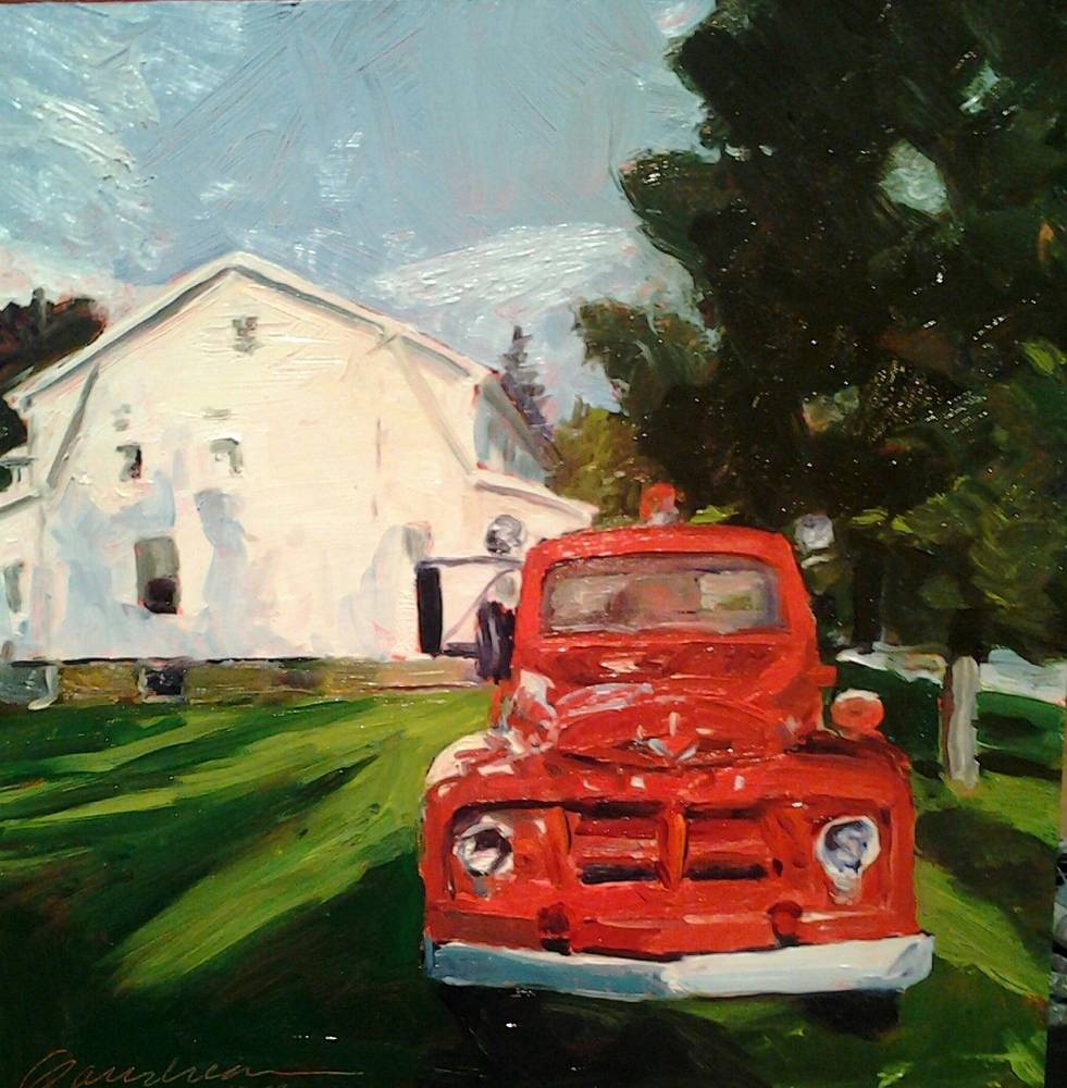 Oil painting Keene Valley Days by Michael  Gaudreau