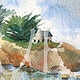 Watercolor Bretagne by Sophie Dassonville