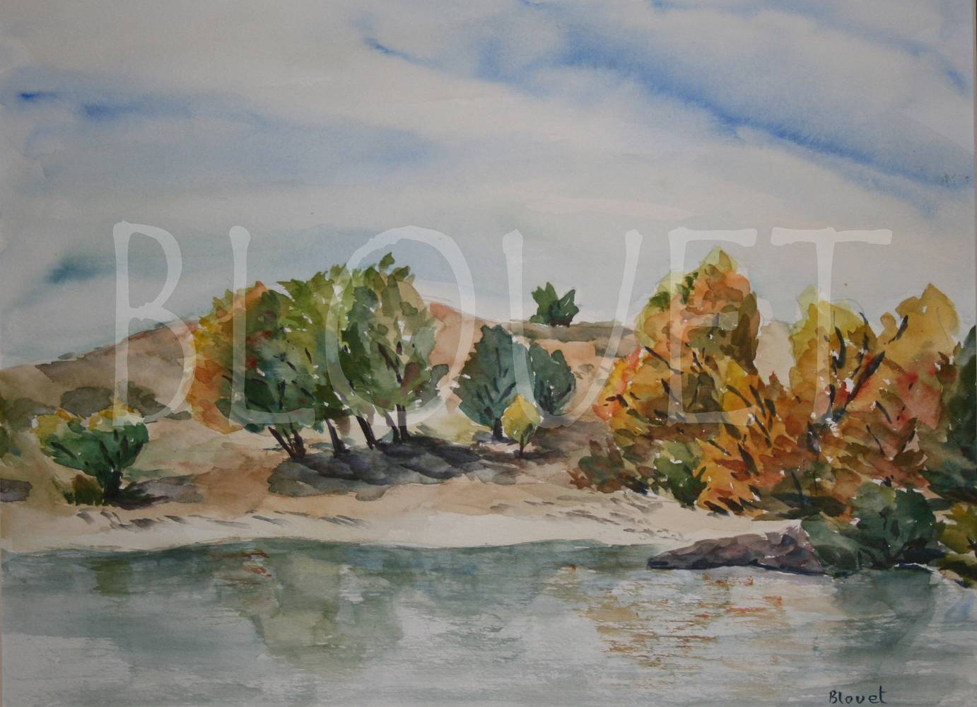 Watercolor Fall in Cherry Creek by Sophie Dassonville