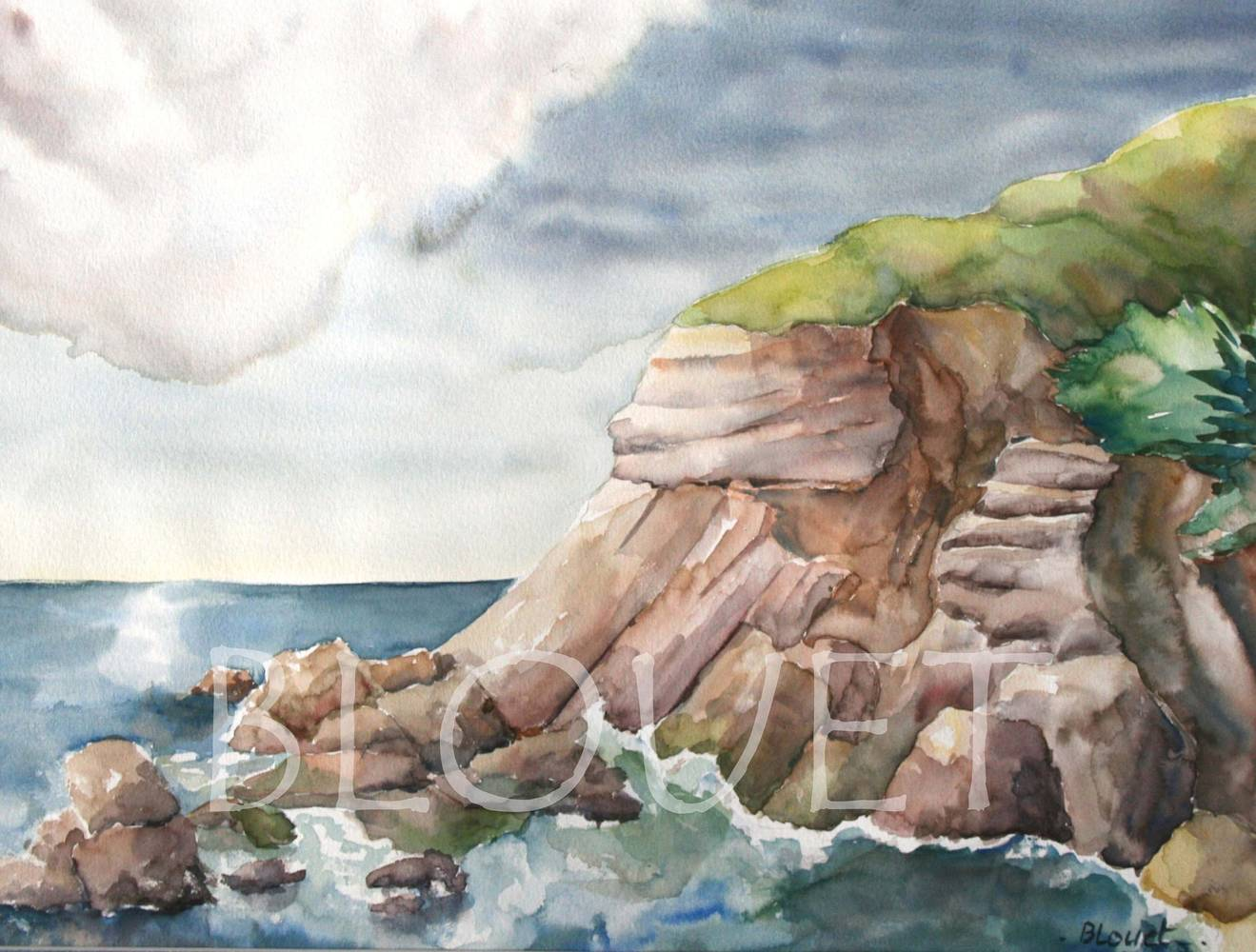 Watercolor Hendaye by Sophie Dassonville
