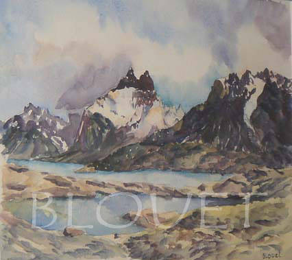 Watercolor Patagonie 1 by Sophie Dassonville