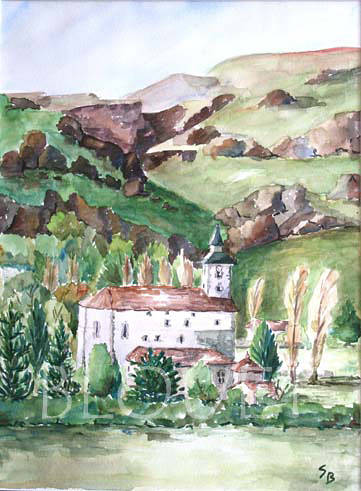 Watercolor Pays Basque by Sophie Dassonville