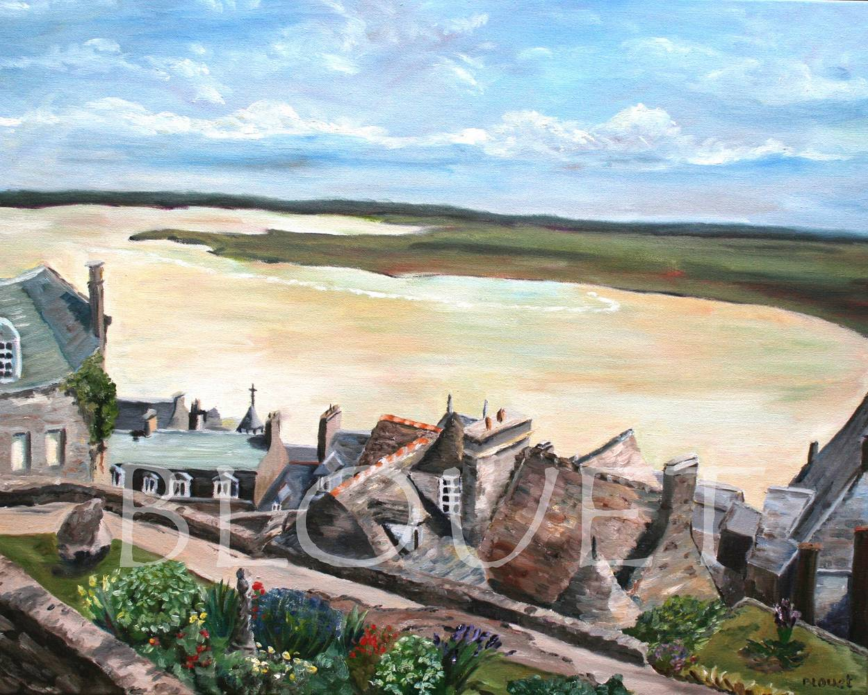 Oil painting Mont Saint Michel by Sophie Dassonville