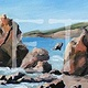 Oil painting Sonoma Coast 2 by Sophie Dassonville
