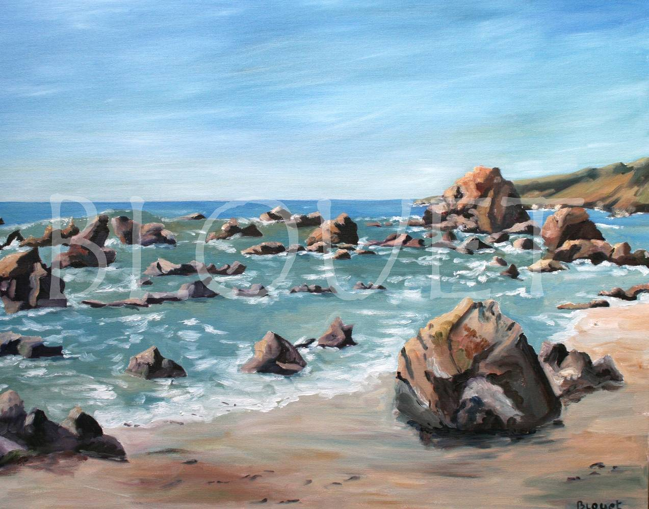 Oil painting Sonoma Coast 1 by Sophie Dassonville