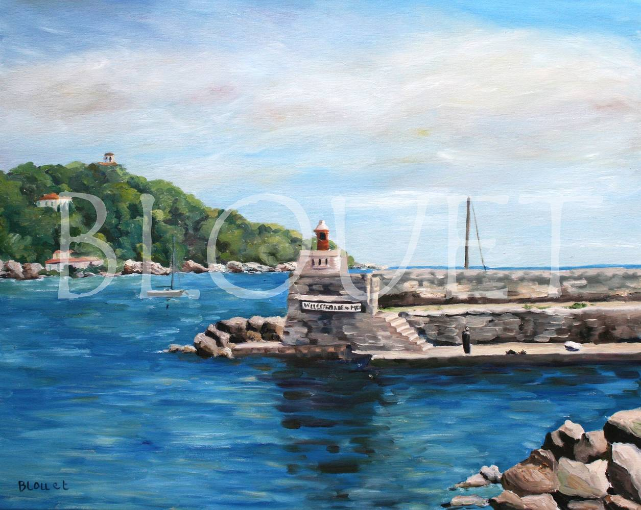 Oil painting Villefranche sur mer by Sophie Dassonville