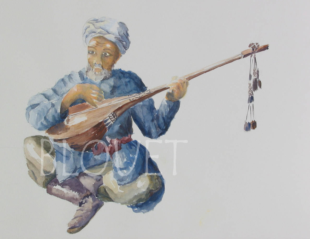 Watercolor Musicien by Sophie Dassonville