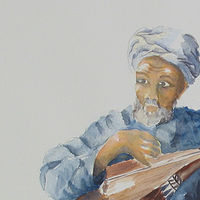 Watercolor Musician by Sophie Dassonville