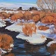 Oil painting December Sun on the Provo by Susette Gertsch