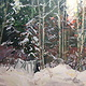 Painting New Year's Snow Camp by Susette Gertsch