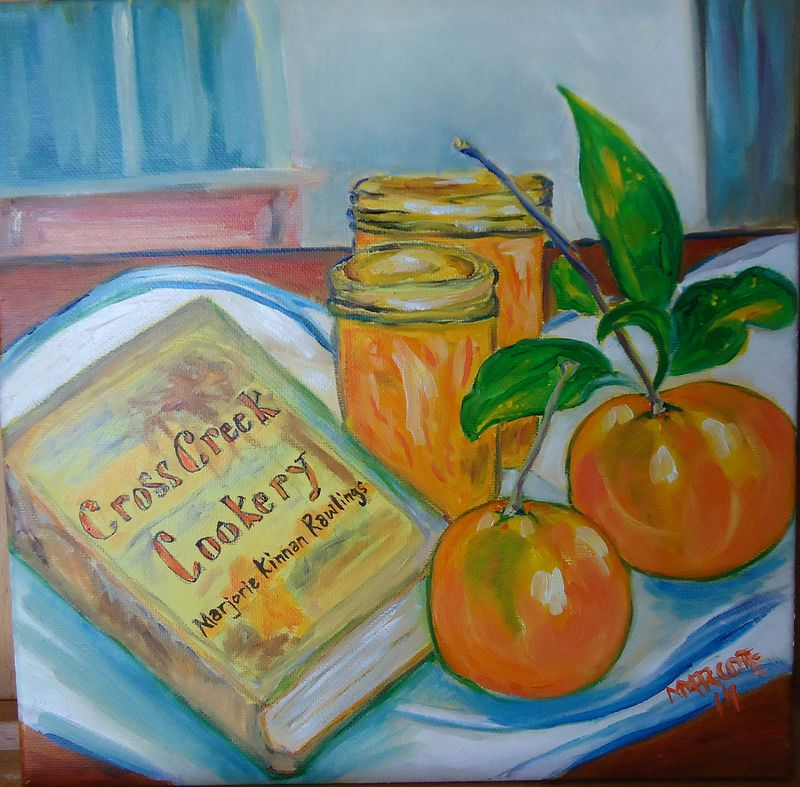 Oil painting Marjorie's Marmalade by Michelle Marcotte