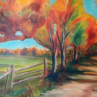Oil painting Ontario Thanksgiving by Michelle Marcotte