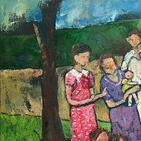 Acrylic painting Family Picnic, 1937 by Yvonne Foster