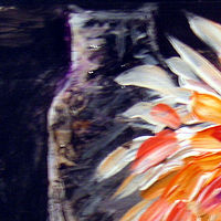 Painting Chrysanthemum Impression  by Mary Chalmers Main