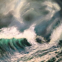 Acrylic painting Epic Water by Frank Kusch