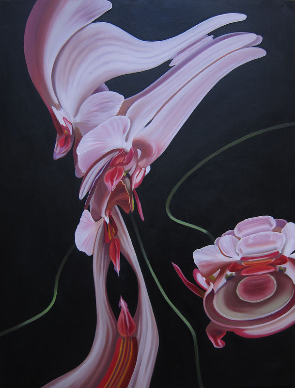 Oil painting Moth Orchid #1 by Robert Porazinski