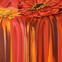 Oil painting Flowerfall I by Robert Porazinski