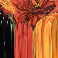 Oil painting Flowerfall II by Robert Porazinski