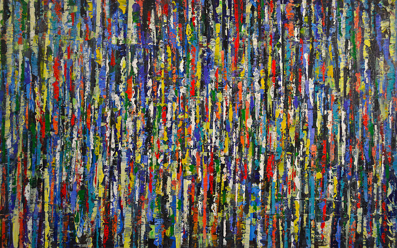 Acrylic painting Urban Rhythms No. 17  by David Tycho