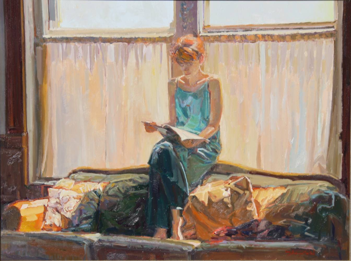Oil painting Saturday Morning - Contact Gallery in St. George Utah http://fibonaccifinearts.com/index.php/contact by Susette Gertsch