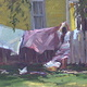 Oil painting One Breezy Day by Susette Gertsch