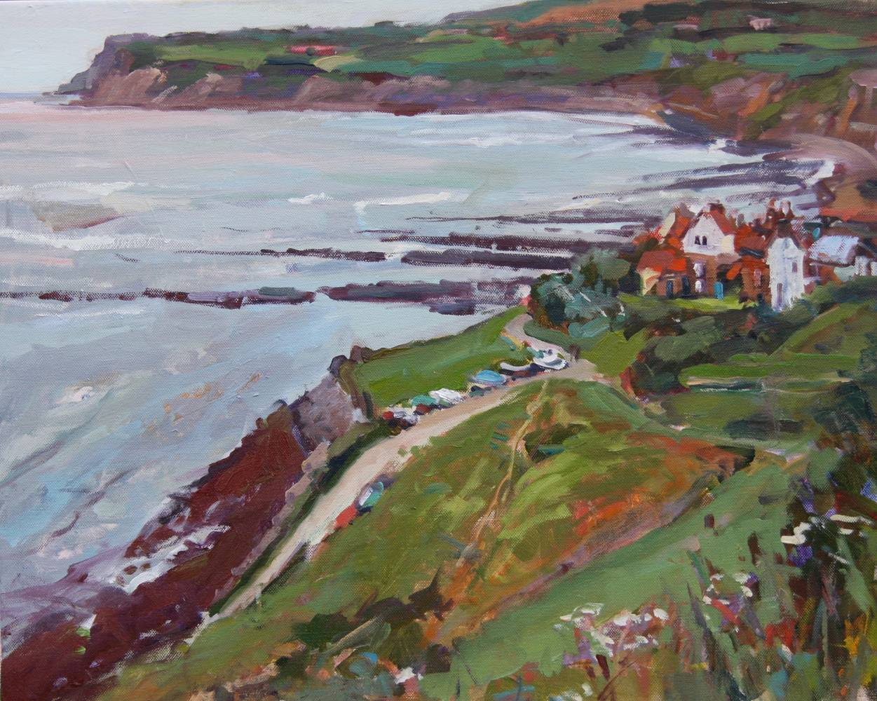 Oil painting Robin Hood's Bay by Susette Gertsch