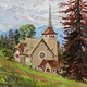 Oil painting Eglise de Caux - Church of de Caux by Susette Gertsch