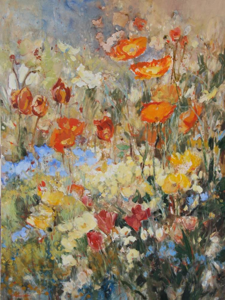 Oil painting Nancy's Flowers by Susette Gertsch