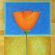 Acrylic painting Poppy Luv by Allyson Malek