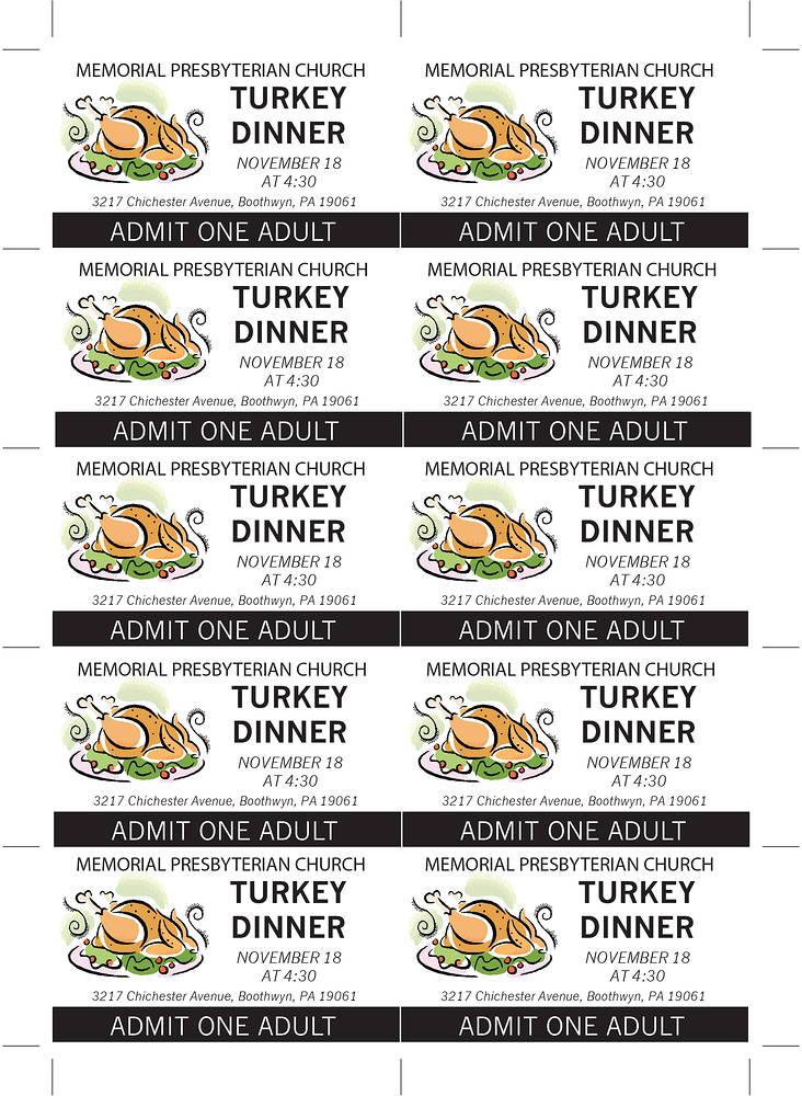 Thanksgiving Dinner Tickets ADULTcopy by John Keaton