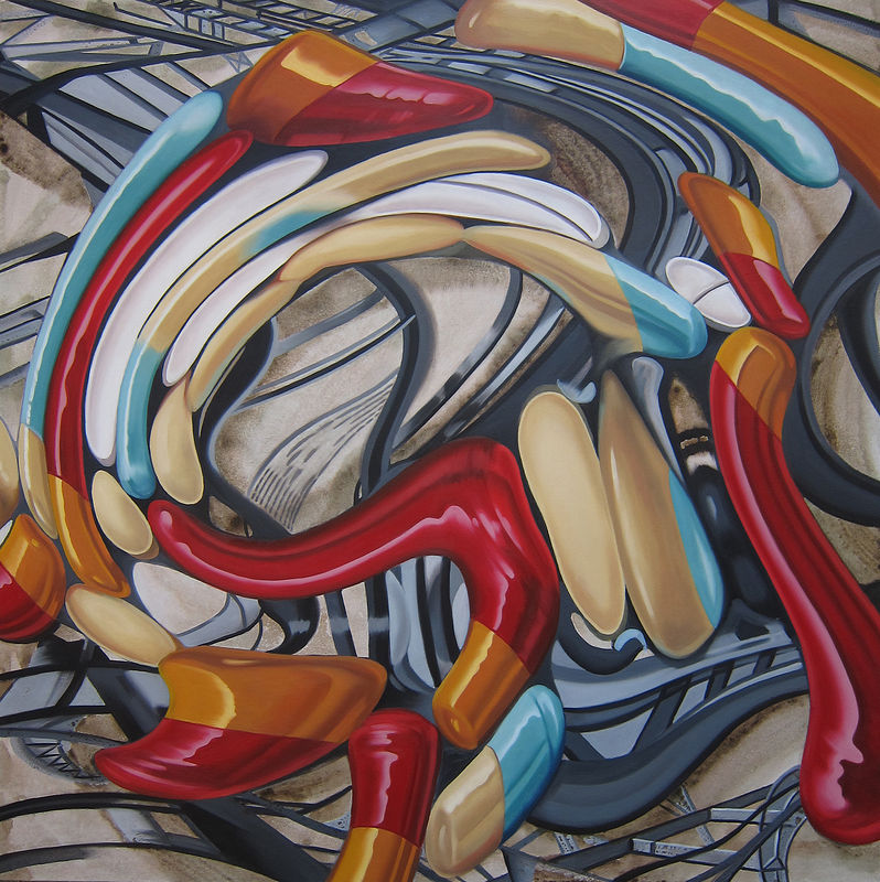 Oil painting Side Effect III by Robert Porazinski