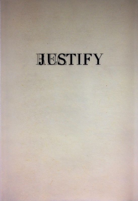 Drawing Rectify/Justify by Kristin Calhoun
