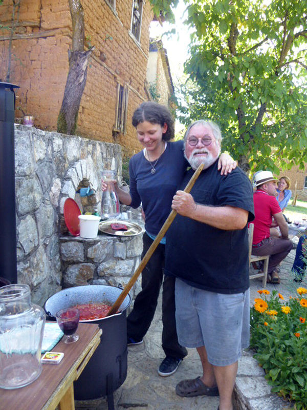 Making goulash with Eva Mayer at Art Point 2013 by Dick Roberts