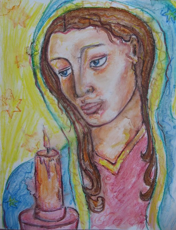 Watercolor Mother of Light by Emily K. Grieves