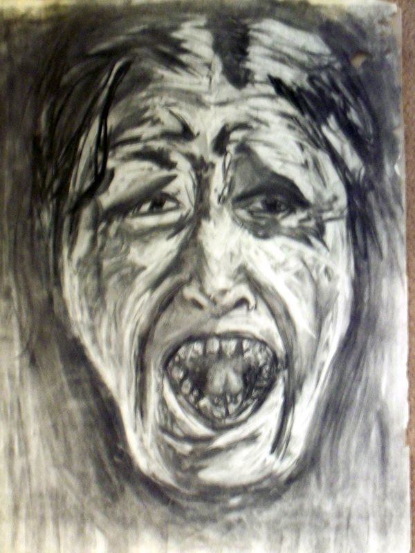 Drawing Screamer by Lynne Stewart