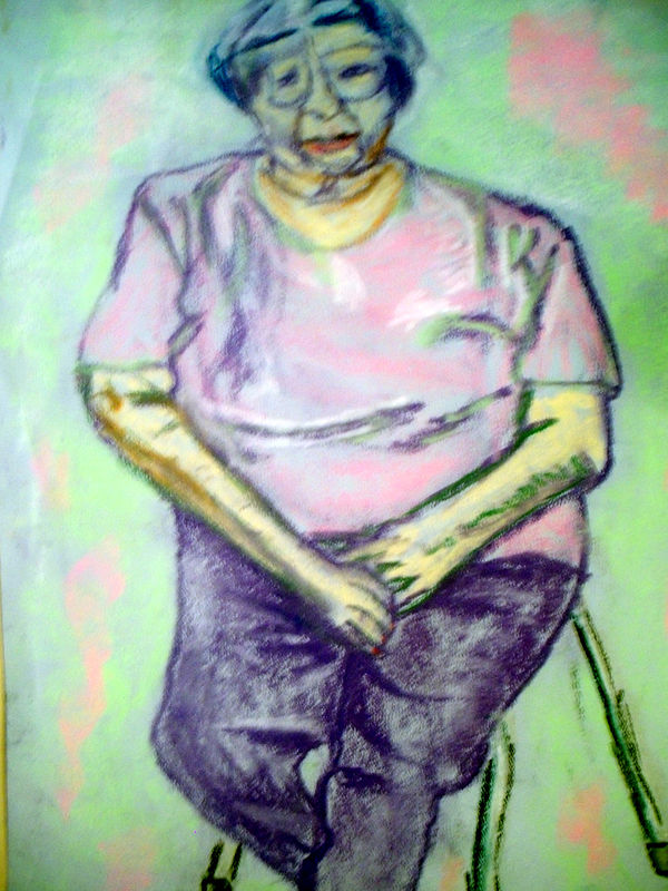 Drawing Elderly Woman by Lynne Stewart